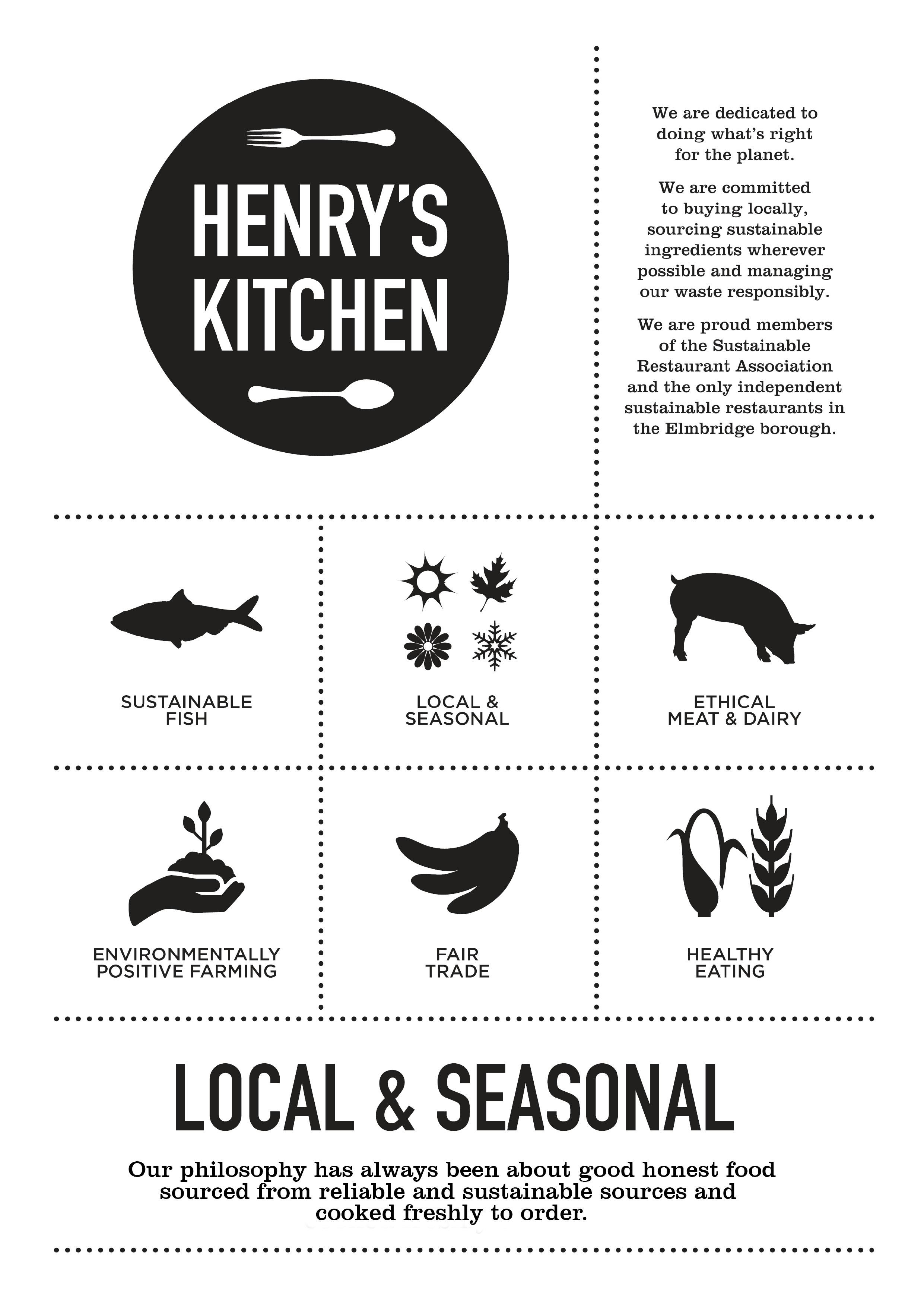 Henrys Kitchen Menus July 2019